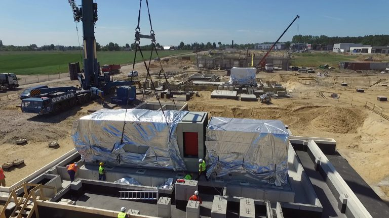 Installation of two compressor units and exhaust stacks | Gas Compressor Station in Odolanów