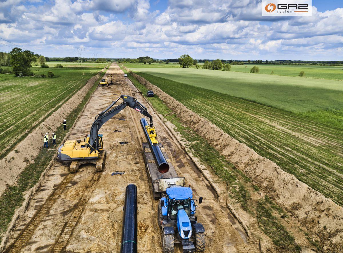Progres majowych prac nabudowie gazociągu Ciecierzyce-Lwówek | Projekt Baltic Pipe